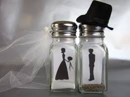 wedding salt and pepper shakers my story met at my best friends wedding and emptying salt