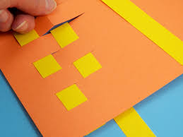 Paper Craft Steps - how to weave paper place mats friday craft projects