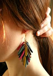 funky earrings funky leather earrings for women aelida