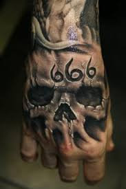 666 skull hand tattoo tattoos book 65 000 tattoos designs