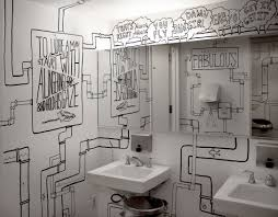 Sharpie Wall Mural Adc Bathroom So Cool Creative Idea Inspiration Do It