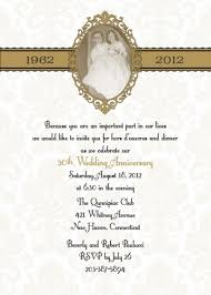wordings casual 50th wedding anniversary invitations also custom