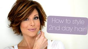 short hairstyles for 48 year old styling tips for second third day hair youtube