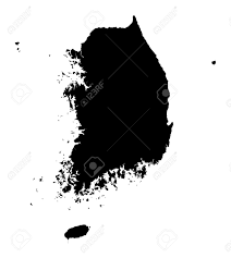 Map Of South Korea Detailed Isolated Map Of South Korea Black And White Mercator