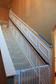 How To Make Wainscoting With Moulding Adding Moulding To Your Staircase Decor Guest Post