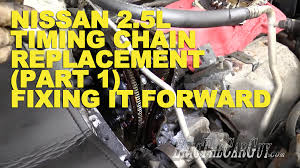 2005 nissan altima jack points nissan 2 5l timing chain replacement part 1 fixing it forward