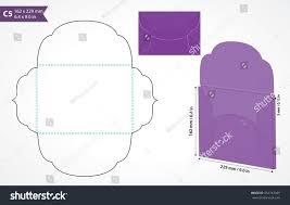 die cut c5 vector envelope template stock vector 352797059