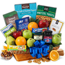 snack basket fruit healthy snacks gift basket by gourmetgiftbaskets