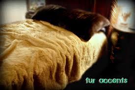 Faux Fur Comforter Fur Accents Faux Fur Bedspread Comforter Tan Lion Deer