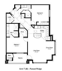 Floor Plan Of Friends Apartment Forest Ridge Senior Living Apartments Hales Corners Wisconsin