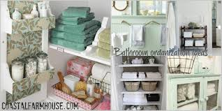 clear the clutter and learn a few bathroom organization ideas