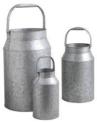 fontaine murale en zinc bidon à lait en zinc lourd lot de 3