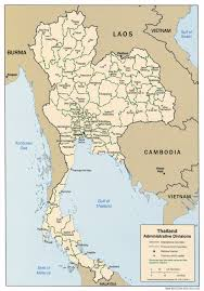 World Map Thailand by