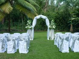 outdoor and patio simple backyard wedding decorations with white