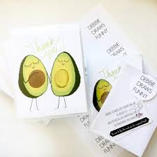 packing up several sets of these sweet avocado baby shower thank