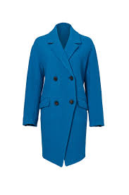 peacock blue finola coat by diane von furstenberg for 150 rent