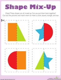 cut out shapes worksheet education com