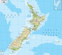 New Zealand And Australia Map Australia And New Zealand Physical Map Map Travel Holiday