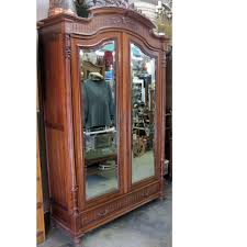Mirror Armoire Wardrobe Wood Armoire Antique Wardrobe Storage Cabinet Drawers Beveled Edge