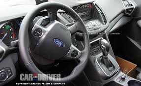 Ford Escape 2013 - spies get clear look inside the 2013 ford escape car and driver blog