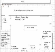 floor plan bar billiard room floor plan with bar