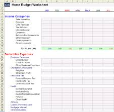 Household Expense Spreadsheet Home Budget Worksheet Template