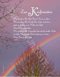 sprüche konfirmation karte glückwunschkarten konfirmationskarte regenbogen tf0011 ein