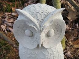 garden owls glass owl using throughout ideas