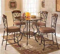 ashley dining room chairs ashley round glass top steel dining table and dining chairs the