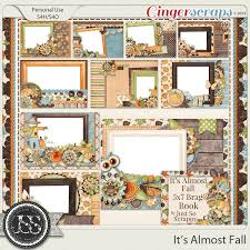 5x7 brag book gingerscraps pages and albums it s almost fall 5x7