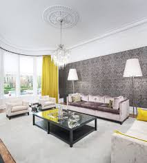 livingroom glasgow grey with acid yellow and lilac sitting room chelsea mclaine