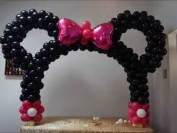 Centerpieces For Minnie Mouse Party by Minnie Mouse Table Balloon Arch Diy Beautiful Balloon Decor Piece