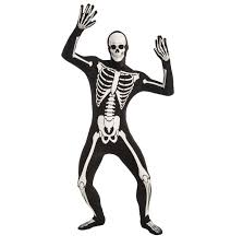 skeleton costume womens disappearing glow in the skeleton skinsuit costume