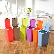Bedroom Wastebasket Bedroom Garbage Can 2 Gallon Slim Trash Can Wastebasket Surf Blue