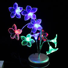 colorful lily led flash lights living room home decor battery
