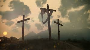 hi res photor ealistic render of jesus cross on cavalry hill after