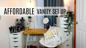 how to affordable ikea vanity set up makeup organization hacks