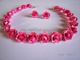 necklace flower handmade images Fah creations handmade jewelry paper punch flower jewelry set jpg