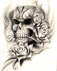 skull flower designs fantastic