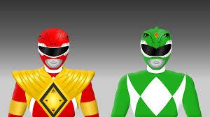 armored red green power ranger yurtigo deviantart