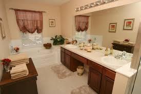 interesting image of bathroom decoration using corner plant for