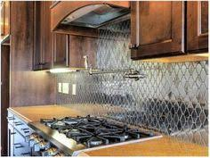 Metal Twist Stainless Steel Mosaic Wall Tile Common In X - Stainless steel backsplash lowes