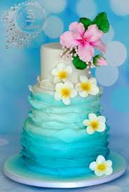 hawaiian themed wedding cakes 587 best tropical cakes images on amazing cakes