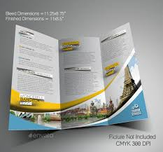 travel brochure template free download vacation brochure template