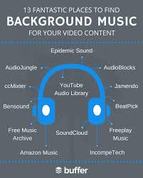 fantastic places to find background music for video