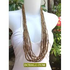 wood beads necklace designs images Golden beads necklaces design multi strand wood golden beads jpg