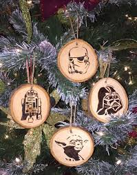 wars christmas decorations wood burned wars christmas ornaments by circleptradingco on
