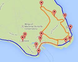 map of mackinac island mackinac island