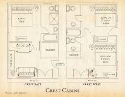 Cabin Floorplan Crest Lodging At C Lazy U Dude Ranch Accommodations