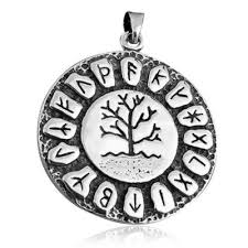 925 sterling silver tree of nordic norse runes runic